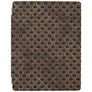 SCALES2 BLACK MARBLE & BROWN STONE iPad COVER