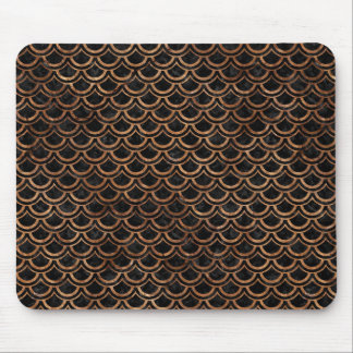 SCALES2 BLACK MARBLE & BROWN STONE MOUSE PAD