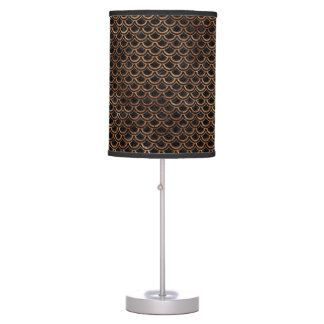 SCALES2 BLACK MARBLE & BROWN STONE TABLE LAMP