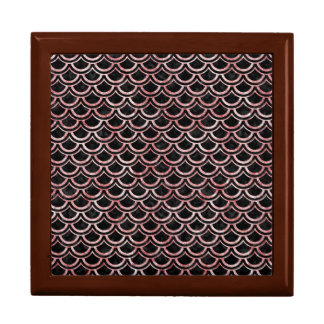 SCALES2 BLACK MARBLE & RED & WHITE MARBLE KEEPSAKE BOXES