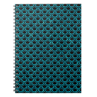 SCALES2 BLACK MARBLE & TURQUOISE MARBLE NOTEBOOK