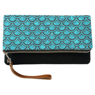 SCALES2 BLACK MARBLE & TURQUOISE MARBLE (R) CLUTCH