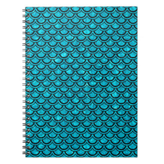 SCALES2 BLACK MARBLE & TURQUOISE MARBLE (R) NOTEBOOK