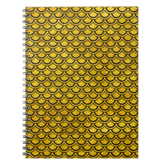 SCALES2 BLACK MARBLE & YELLOW MARBLE (R) SPIRAL NOTEBOOK