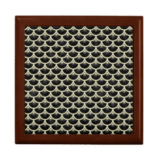 SCALES3 BLACK MARBLE & BEIGE LINEN GIFT BOX
