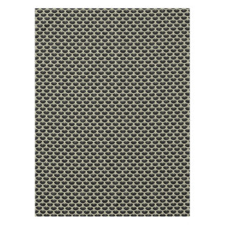 SCALES3 BLACK MARBLE & BEIGE LINEN TABLECLOTH