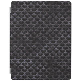 SCALES3 BLACK MARBLE & BLACK WATERCOLOR iPad COVER