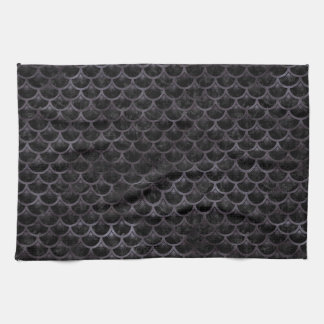 SCALES3 BLACK MARBLE & BLACK WATERCOLOR KITCHEN TOWELS