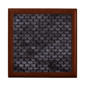 SCALES3 BLACK MARBLE & BLACK WATERCOLOR (R) GIFT BOX