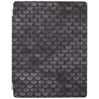 SCALES3 BLACK MARBLE & BLACK WATERCOLOR (R) iPad COVER