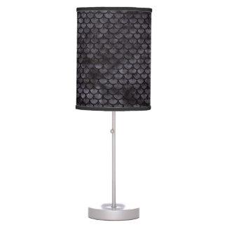 SCALES3 BLACK MARBLE & BLACK WATERCOLOR (R) TABLE LAMP