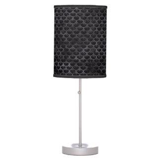 SCALES3 BLACK MARBLE & BLACK WATERCOLOR TABLE LAMP