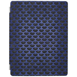 SCALES3 BLACK MARBLE & BLUE BRUSHED METAL iPad COVER