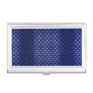 SCALES3 BLACK MARBLE & BLUE BRUSHED METAL (R) BUSINESS CARD HOLDER