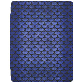 SCALES3 BLACK MARBLE & BLUE BRUSHED METAL (R) iPad COVER