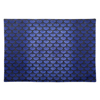 SCALES3 BLACK MARBLE & BLUE BRUSHED METAL (R) PLACEMAT
