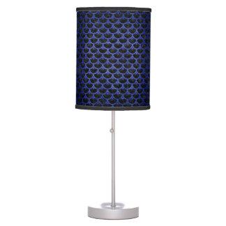 SCALES3 BLACK MARBLE & BLUE BRUSHED METAL TABLE LAMP