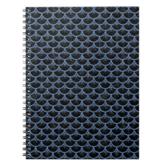 SCALES3 BLACK MARBLE & BLUE DENIM NOTEBOOK