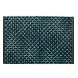 SCALES3 BLACK MARBLE & BLUE-GREEN WATER COVER FOR iPad AIR