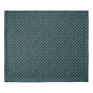 SCALES3 BLACK MARBLE & BLUE-GREEN WATER DUVET COVER