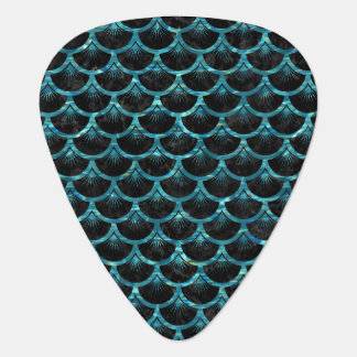 SCALES3 BLACK MARBLE & BLUE-GREEN WATER GUITAR PICK