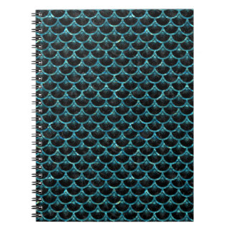 SCALES3 BLACK MARBLE & BLUE-GREEN WATER NOTEBOOKS