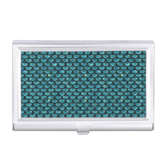 SCALES3 BLACK MARBLE & BLUE-GREEN WATER (R) BUSINESS CARD HOLDER