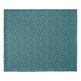 SCALES3 BLACK MARBLE & BLUE-GREEN WATER (R) DUVET COVER