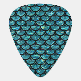 SCALES3 BLACK MARBLE & BLUE-GREEN WATER (R) GUITAR PICK