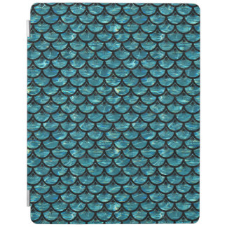 SCALES3 BLACK MARBLE & BLUE-GREEN WATER (R) iPad COVER