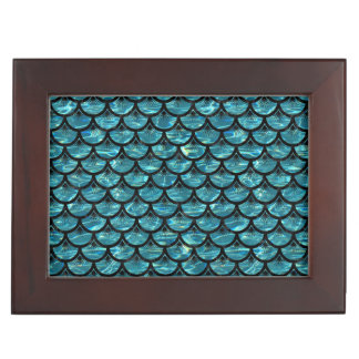 SCALES3 BLACK MARBLE & BLUE-GREEN WATER (R) KEEPSAKE BOX