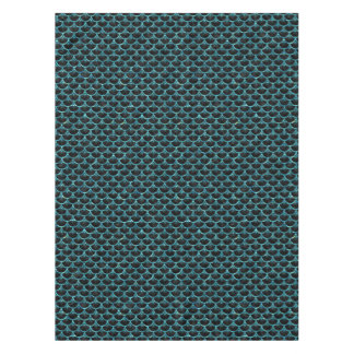 SCALES3 BLACK MARBLE & BLUE-GREEN WATER TABLECLOTH