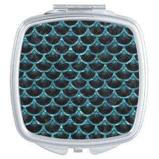 SCALES3 BLACK MARBLE & BLUE-GREEN WATER VANITY MIRROR