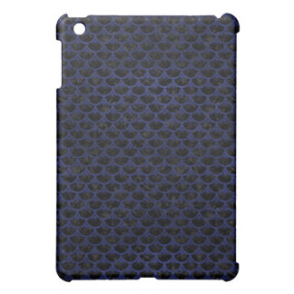 SCALES3 BLACK MARBLE & BLUE LEATHER CASE FOR THE iPad MINI