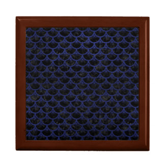 SCALES3 BLACK MARBLE & BLUE LEATHER GIFT BOX