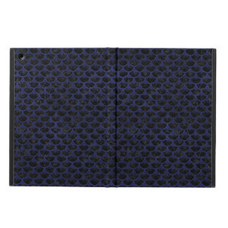 SCALES3 BLACK MARBLE & BLUE LEATHER iPad AIR COVER