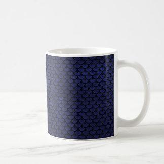 SCALES3 BLACK MARBLE & BLUE LEATHER (R) COFFEE MUG