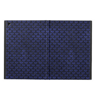 SCALES3 BLACK MARBLE & BLUE LEATHER (R) COVER FOR iPad AIR