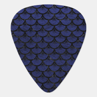 SCALES3 BLACK MARBLE & BLUE LEATHER (R) GUITAR PICK