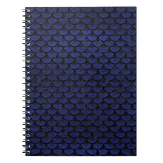 SCALES3 BLACK MARBLE & BLUE LEATHER (R) NOTEBOOK