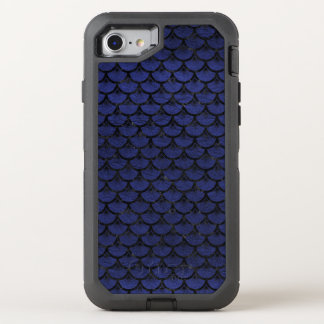 SCALES3 BLACK MARBLE & BLUE LEATHER (R) OtterBox DEFENDER iPhone 8/7 CASE