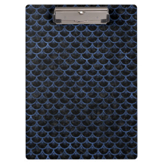 SCALES3 BLACK MARBLE & BLUE STONE CLIPBOARD