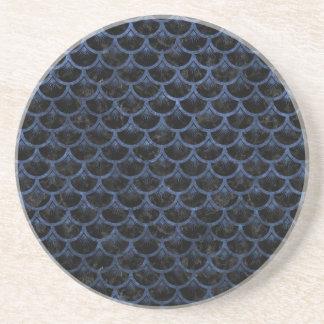 SCALES3 BLACK MARBLE & BLUE STONE COASTER