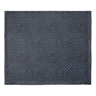 SCALES3 BLACK MARBLE & BLUE STONE DUVET COVER