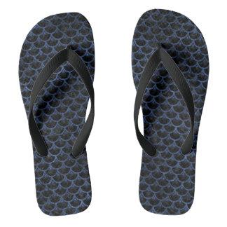 SCALES3 BLACK MARBLE & BLUE STONE FLIP FLOPS