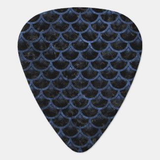 SCALES3 BLACK MARBLE & BLUE STONE GUITAR PICK