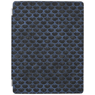 SCALES3 BLACK MARBLE & BLUE STONE iPad COVER