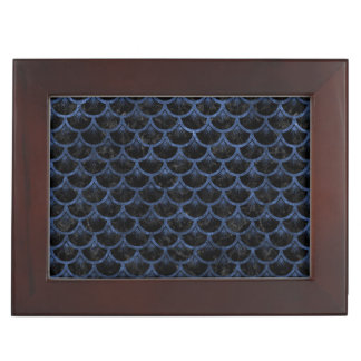 SCALES3 BLACK MARBLE & BLUE STONE KEEPSAKE BOX