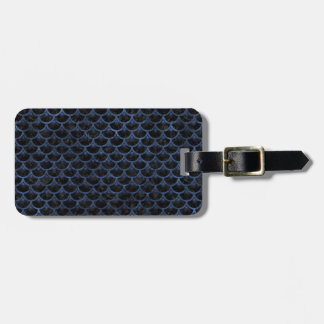 SCALES3 BLACK MARBLE & BLUE STONE LUGGAGE TAG