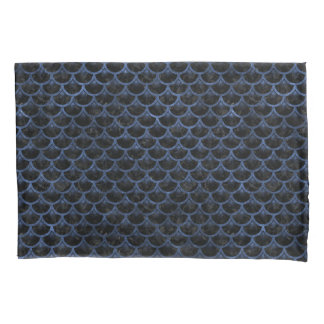 SCALES3 BLACK MARBLE & BLUE STONE PILLOWCASE